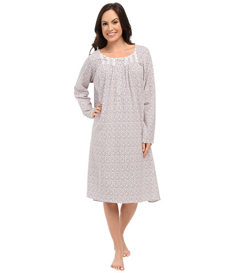 Eileen West - Waltz Nightgown (White/Ditsy) Women's Pajama