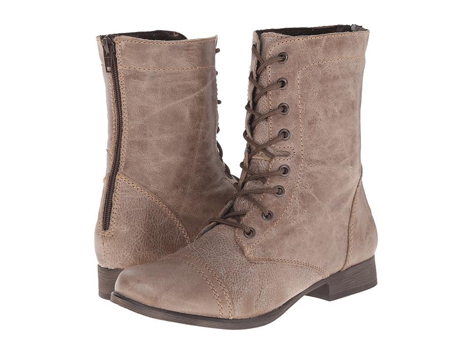 Steve Madden - P-Kombat (Stone) Women's Lace-up Boots