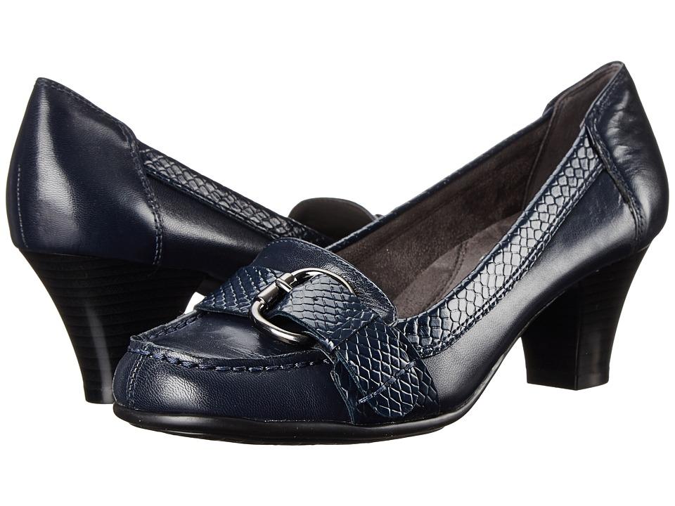 Aerosoles - Arivederci (Dark Blue Leather) Women's Shoes