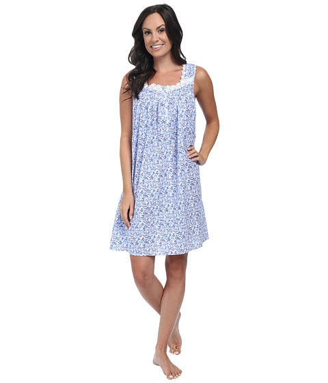 Eileen West - Short Nightgown (Pink/Blue) Women