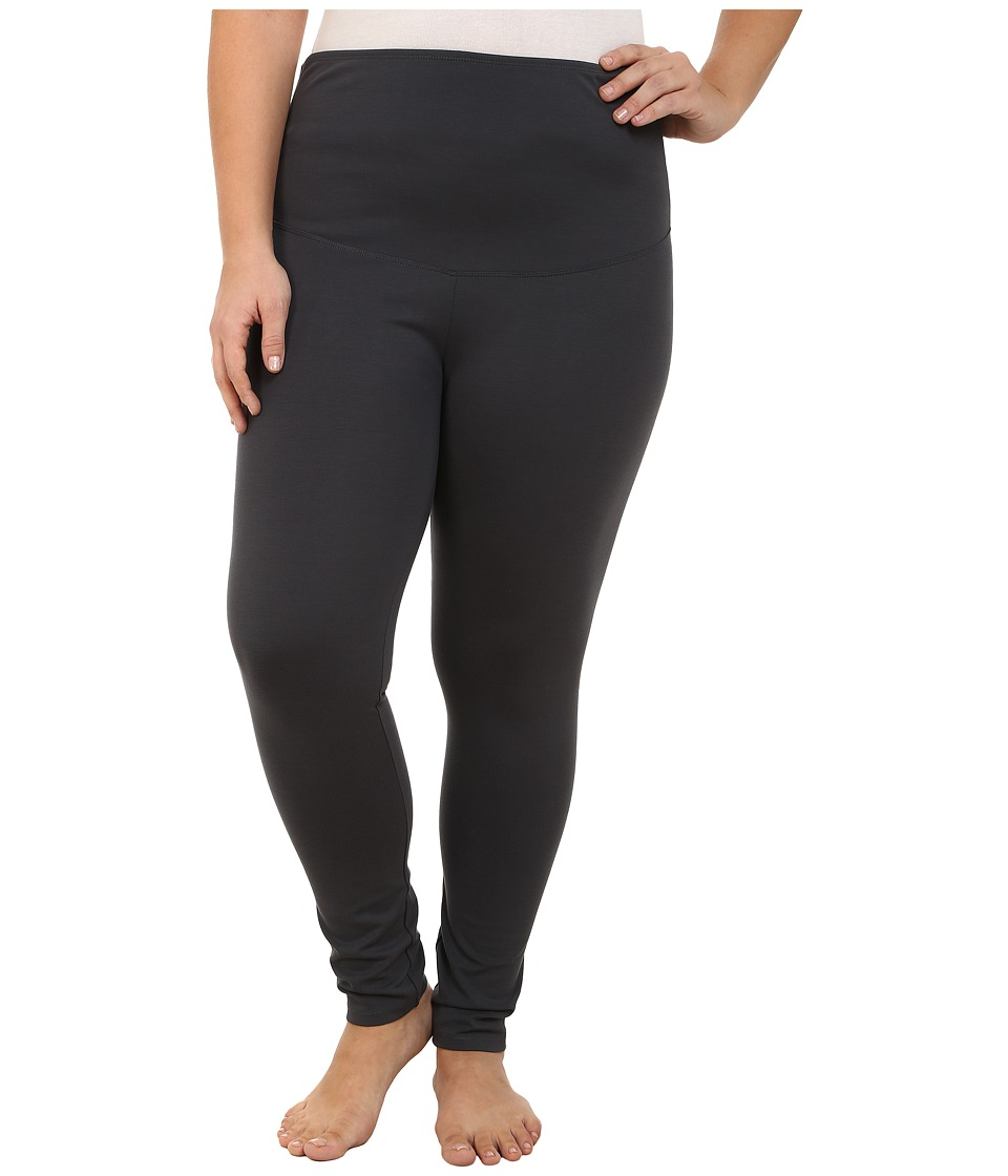 Yummie by Heather Thomson - Plus Size Louise Leggings (Asphalt) Women's Casual Pants