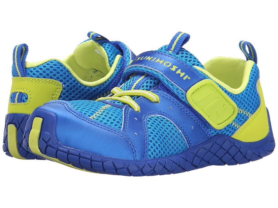 Tsukihoshi Kids - Marina (Toddler/Little Kid) (Royal/Lime) Boys Shoes
