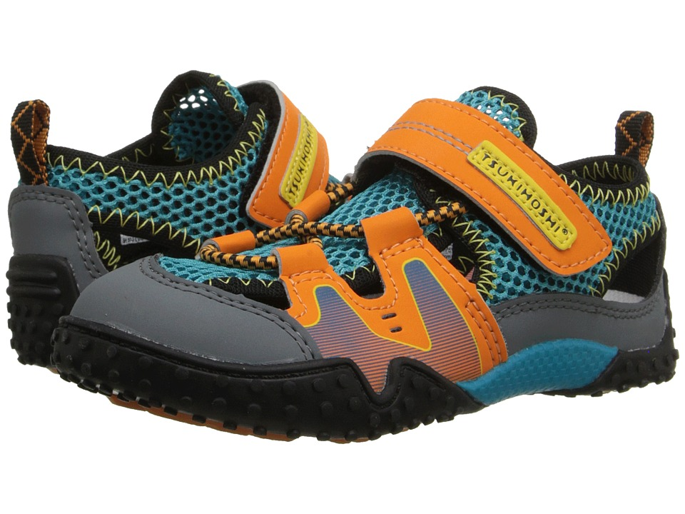 Tsukihoshi Kids Ibiza (Toddler/Little Kid) (Orange/Sea) Boys Shoes