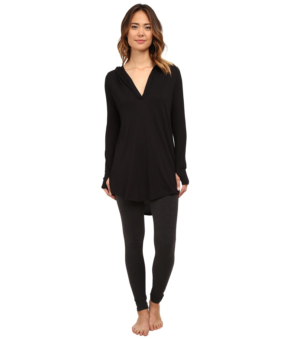 Yummie by Heather Thomson - Hooded Cover-Up (Black) Women's Clothing