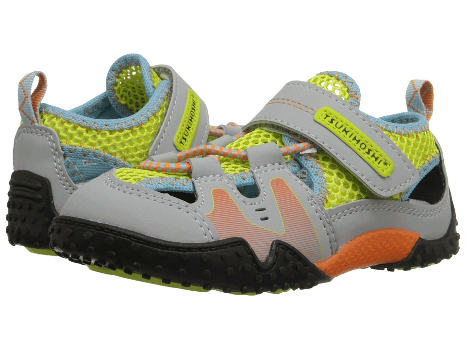 Tsukihoshi Kids - Ibiza (Toddler/Little Kid) (Gray/Lime) Boys Shoes