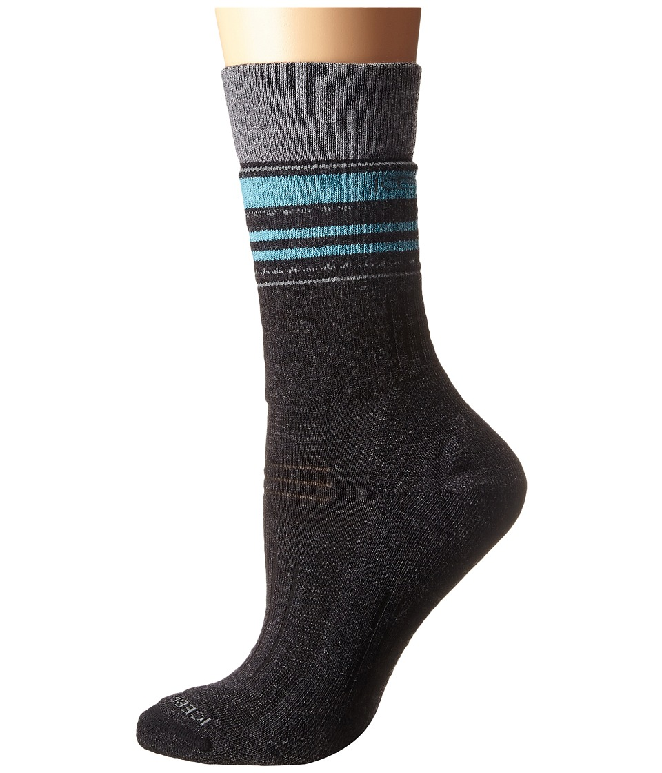 Icebreaker - Hike + Medium Crew 1-Pair Pack (Jet Heather/Twister Heather/Glacier) Women's Crew Cut Socks Shoes