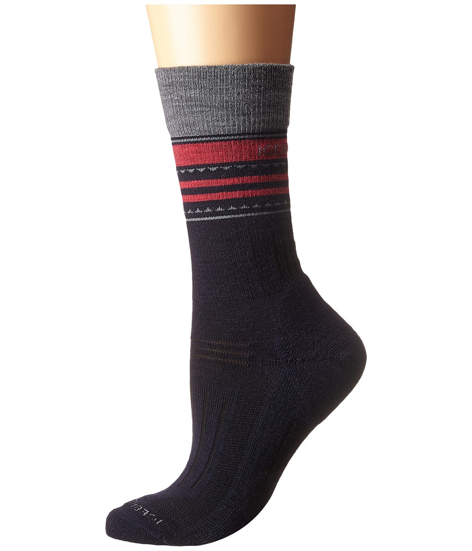 Icebreaker - Hike + Light Crew 1-Pair Pack (Admiral/Twister Heather/Cherub) Women's Crew Cut Socks Shoes