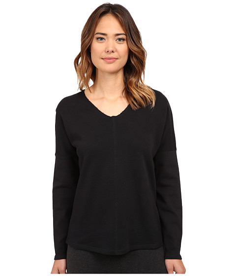 Yummie by Heather Thomson - Dropped Shoulder Top (Black) Women's T Shirt