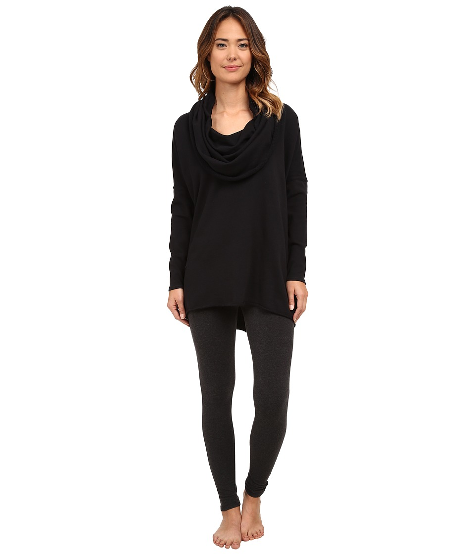 Yummie - Dropped Shoulder Cowl Neck Pullover (Black) Women's Clothing