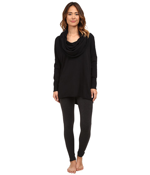 Yummie by Heather Thomson - Dropped Shoulder Cowl Neck Pullover (Black) Women's Clothing