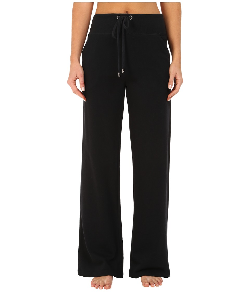 Yummie by Heather Thomson - Wide Leg Pants w/ Ribbed Detail (Black) Women's Casual Pants