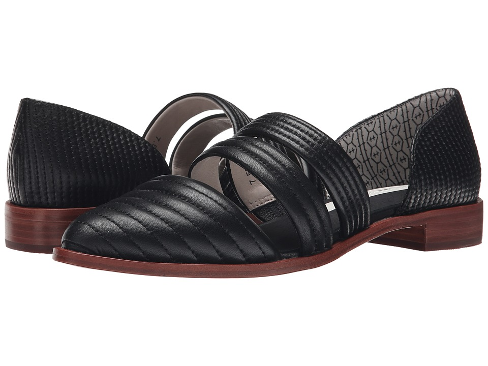 Matt Bernson - Muse Flat (Black Leather) Women's Flat Shoes