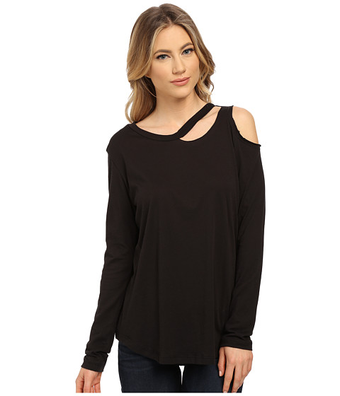 LNA - Long Sleeve Slash Tee (Black) Women