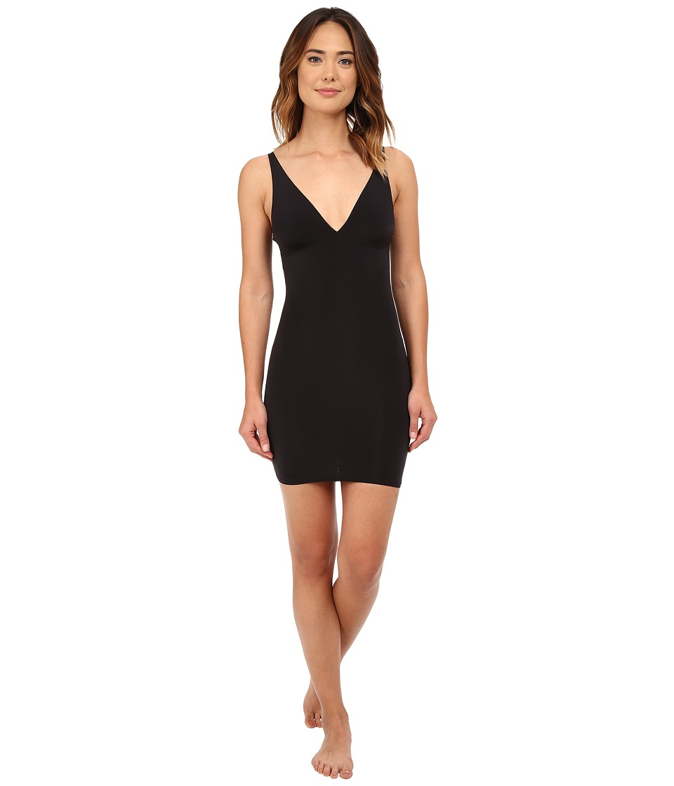 Yummie - Noel Plunge Slip (Black) Women's Clothing