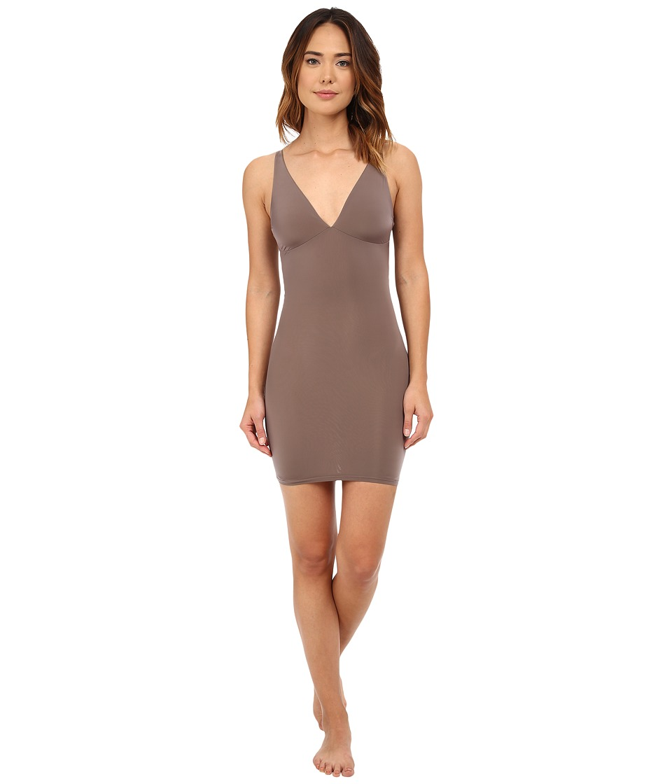 Yummie by Heather Thomson - Noel Plunge Slip (Mink) Women's Clothing