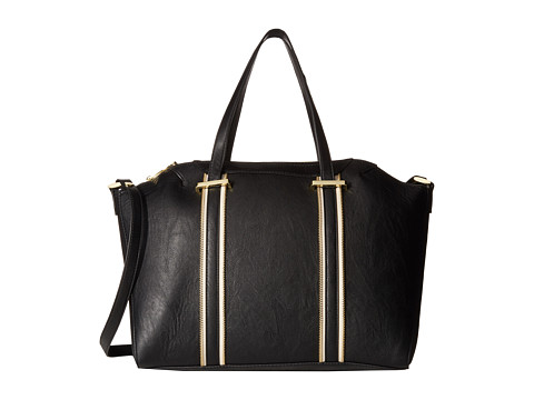 Steve Madden - Bswank Satchel with Pop Zip Tape (Black/Multi) Satchel Handbags