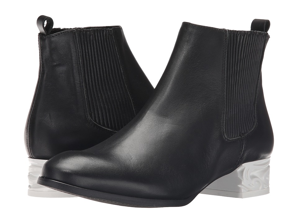 Miista - Ashlynn (Black/White) Women's Pull-on Boots