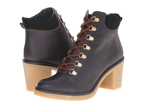 Miista - Aubrey (Dark Navy) Women's Lace-up Boots
