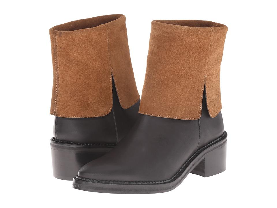 Miista - Kamila (Black/Tan) Women's Pull-on Boots