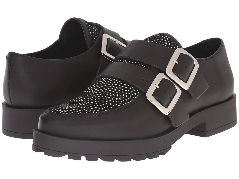 Miista - Bhu (Black/Silver) Women's Slip on Shoes