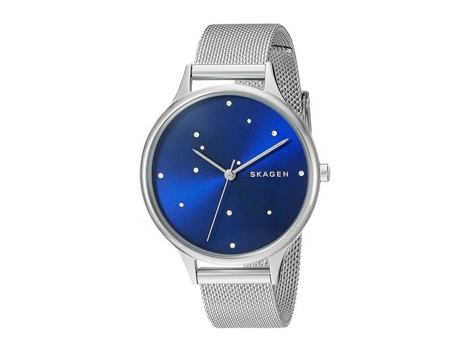 Skagen - Anita SKW2391 (Stainless Steel/Blue) Watches