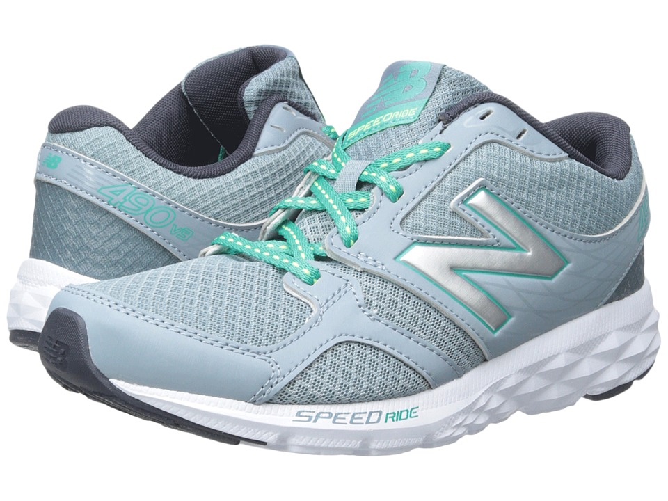 New Balance - W490V3 (Grey/Green) Women's Shoes