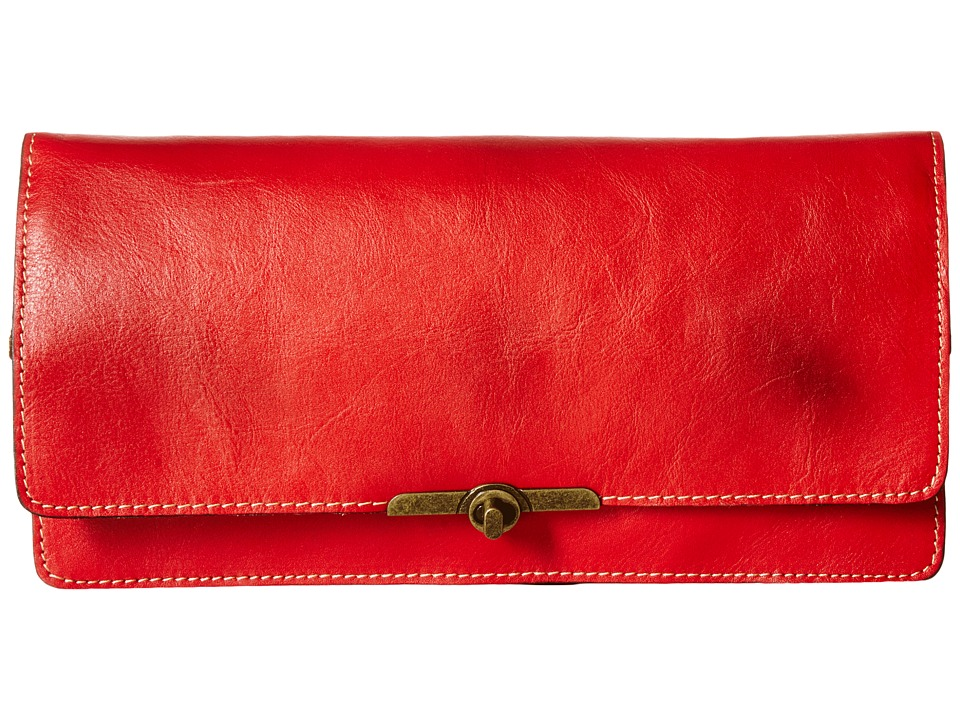 Patricia Nash - Oil Rub Prado Clutch (Poppy) Clutch Handbags