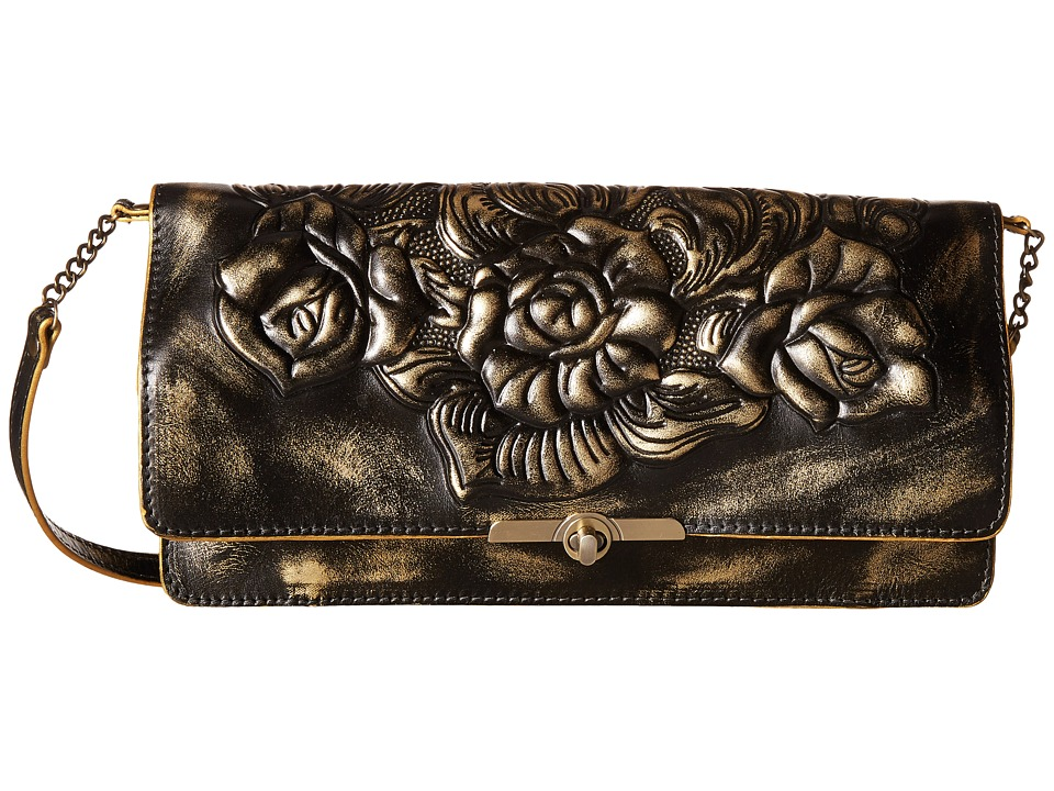 Patricia Nash - Metallic Rose Tooled Prado Clutch (Gold) Clutch Handbags