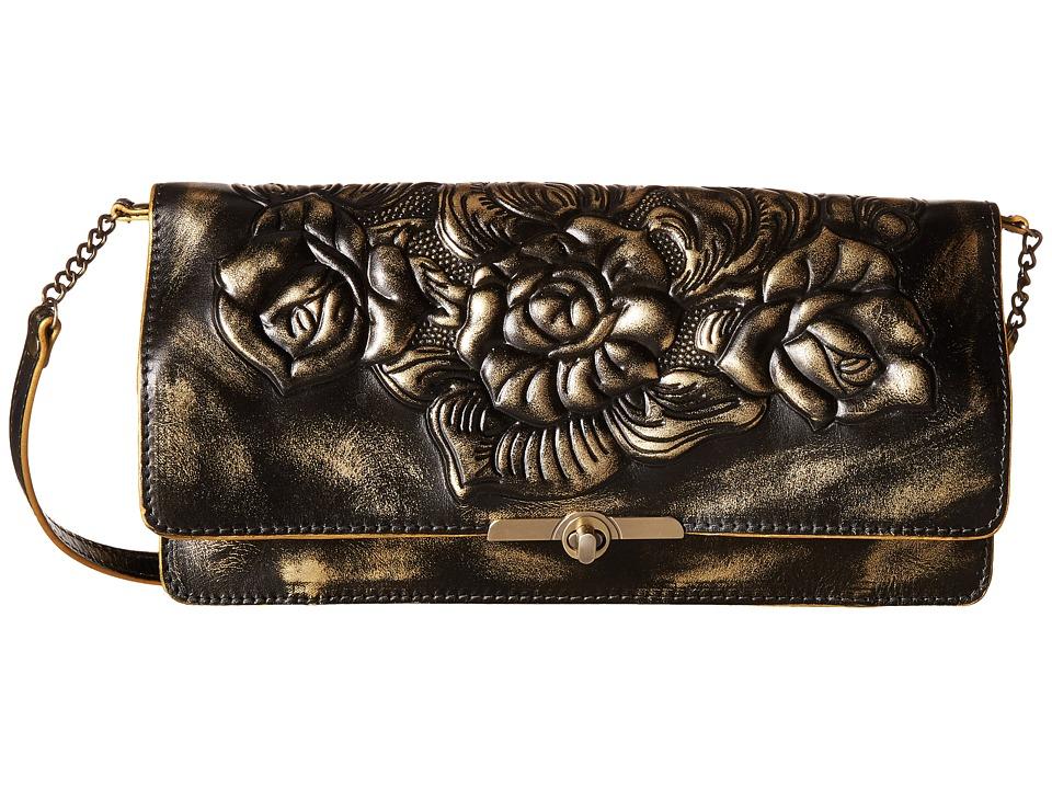 Patricia Nash - Metallic Rose Tooled Prado Clutch (Gold) Clutch Handbags