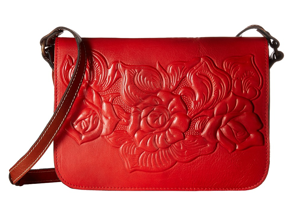Patricia Nash - Rose Tooled Navano Crossbody (Poppy) Cross Body Handbags
