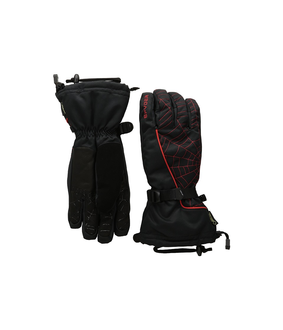 Spyder - Overweb Gore-Tex Ski Glove (Black/Volcano) Over-Mits Gloves