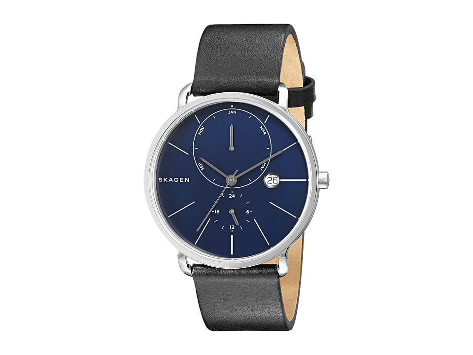 Skagen - Hagen SKW6241 (Stainless Steel/Black/Blue) Watches
