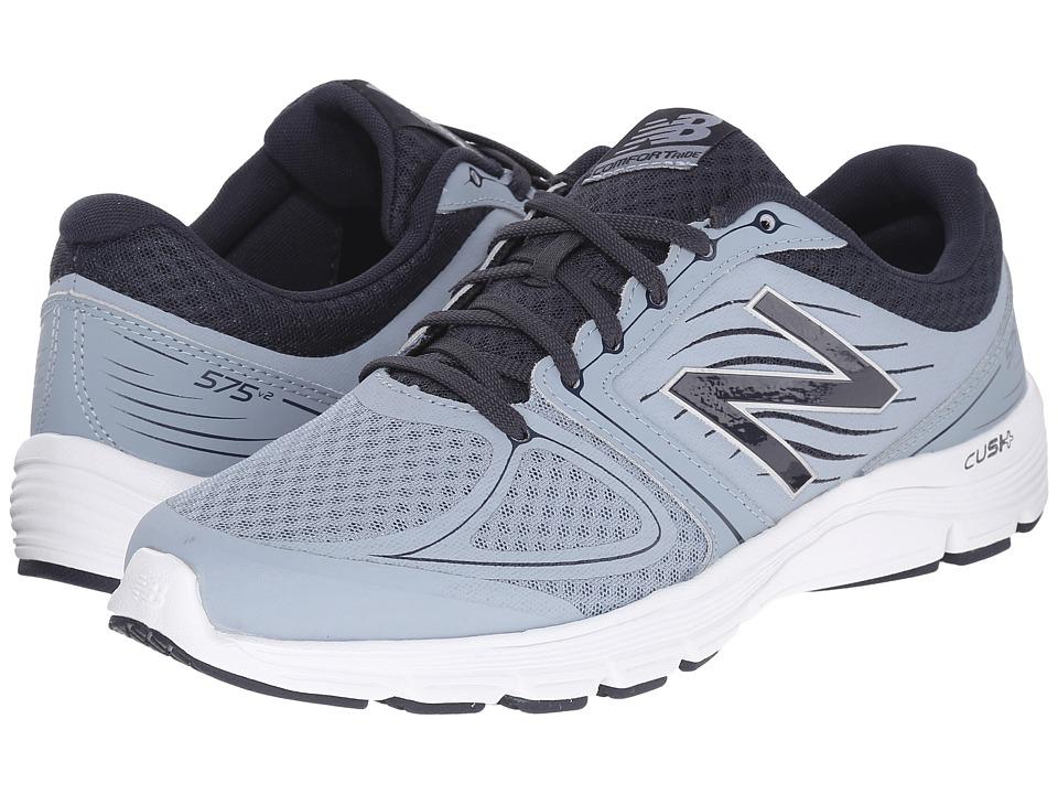New Balance - M575L (Grey/Orange) Men's Running Shoes