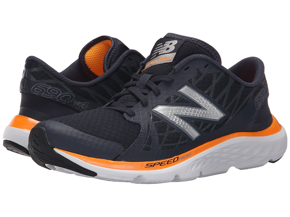 New Balance - M690R (Grey/Orange) Men's Running Shoes
