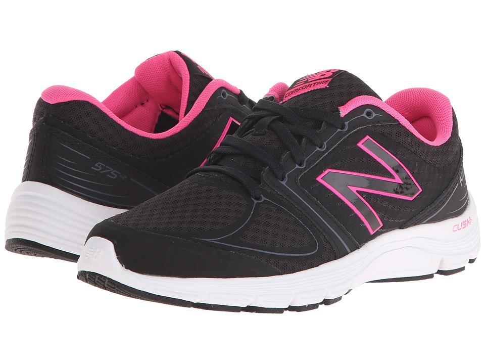 New Balance - W575v2 (Black/Pink) Women's Shoes