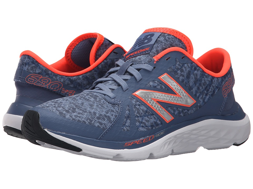 New Balance - W690v4 (Grey/Orange) Women's Running Shoes
