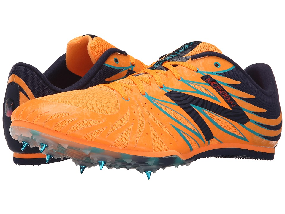 New Balance - MMD500 (Orange Pop With Black & Atlantic Blue) Men's Track Shoes