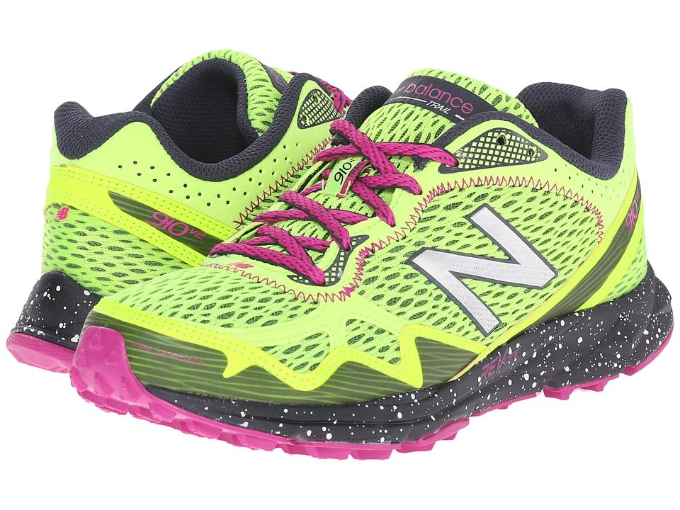 New Balance - WT910v2 (Green/Pink) Women's Running Shoes