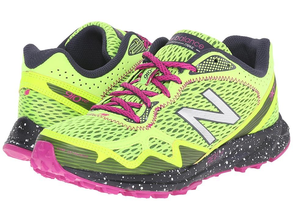 New Balance - WT910v2 (Green/Pink) Women's Running Shoes