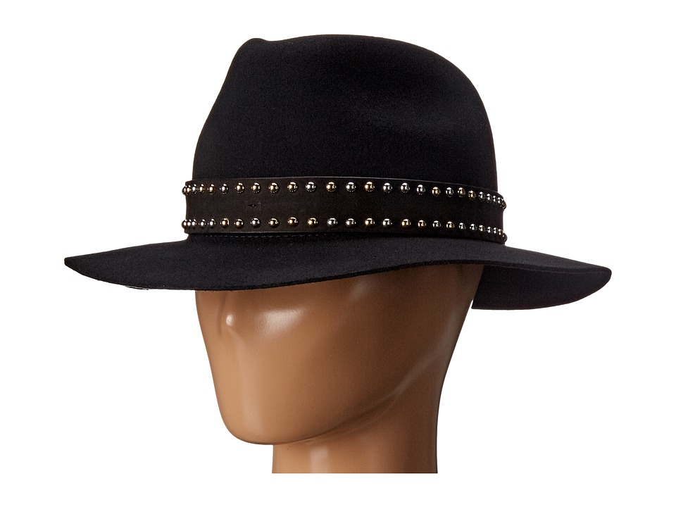The Kooples - Wool Felt Hat (Black) Fedora Hats