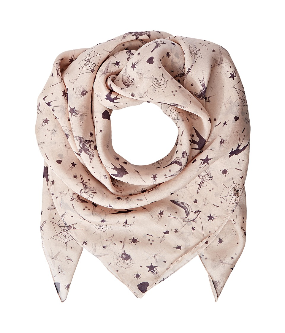 The Kooples - Silk Chiffon Print Scarf (Nude) Scarves