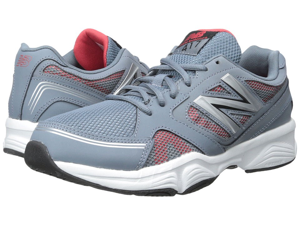 New Balance - M417v4 (Grey/Red) Men's Shoes