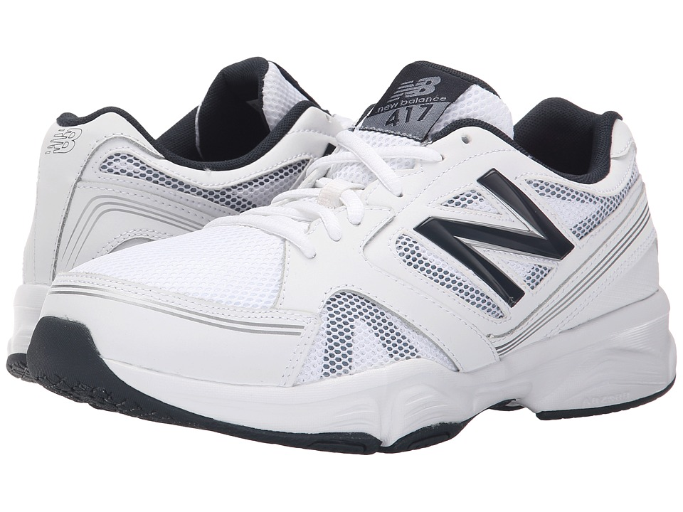New Balance - M417v4 (White/Navy) Men's Shoes