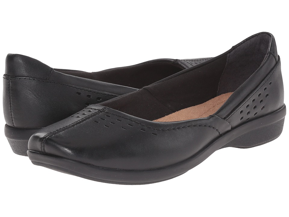 Clarks - Haydn Shipper (Black Leather) Women's Flat Shoes