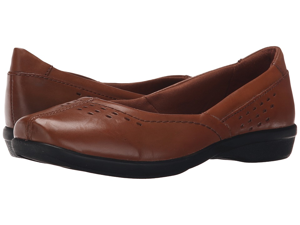 Clarks - Haydn Shipper (Tan Leather) Women's Flat Shoes