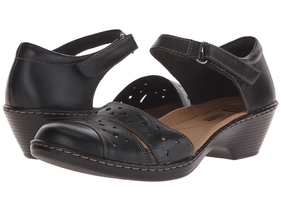 Clarks - Wendy Laurel (Black Leather) Women