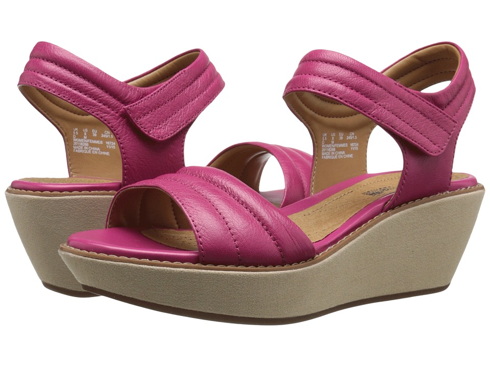 Clarks - Hazelle Alba (Fuchsia Leather) Women