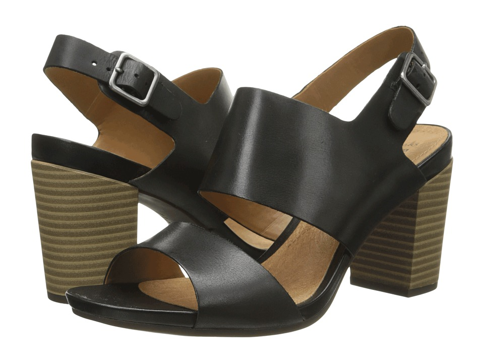 Clarks - Banoy Tulia (Black Leather) High Heels