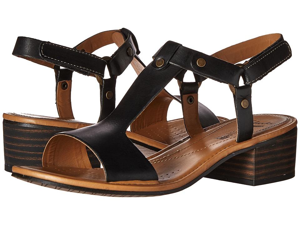 Clarks - Reida Ryan (Black Leather) Women's 1-2 inch heel Shoes