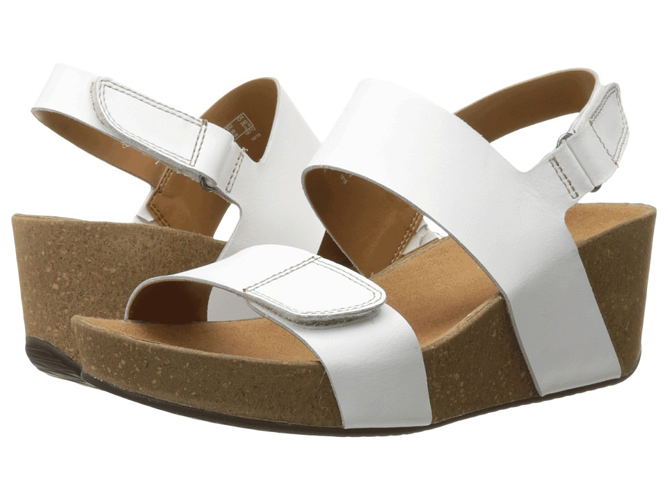 Clarks - Auriel Fin (White Leather) Women's Sandals
